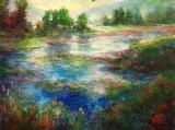 Dawn on the Coeur d'Alene, Harrison Water Lillies