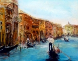 Venice Calm Waters Oil on board